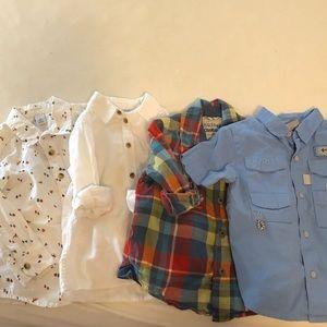 button down shirts 3T-h&m, osh kosh, Columbia